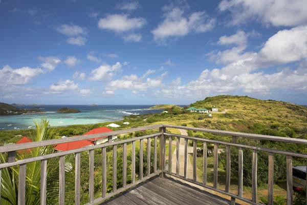 The view from Villa WV BLA (Villa Casa Blanca) at St. Barthelemy, Grand Cul de Sac, Family-Friendly Villa, Pool, 2 Bedrooms, 2 Bathrooms, WiFi, WIMCO Villas