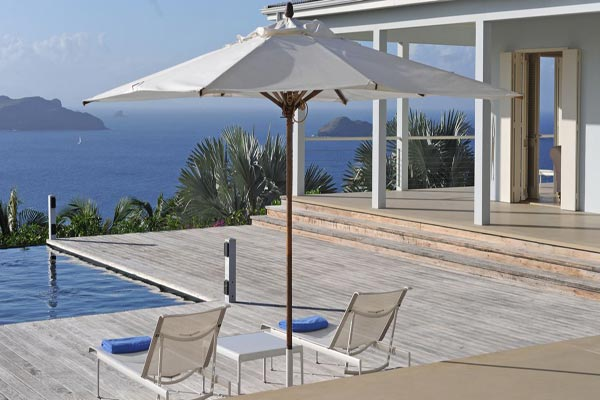 Terrace at Villa WV BOW (Hill House) at St. Barthelemy, Camaruche, Family-Friendly Villa, Pool, 4 Bedrooms, 5 Bathrooms, WiFi, WIMCO Villas