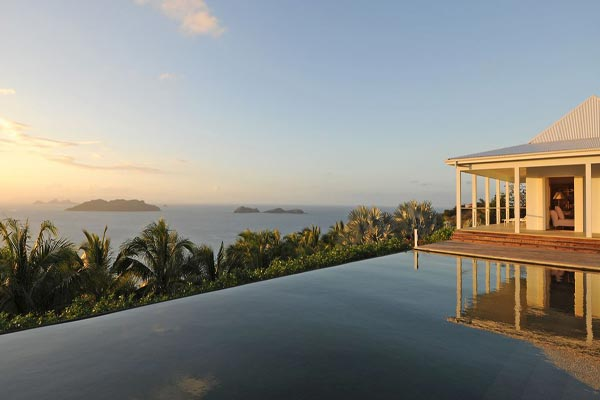 The view from Villa WV BOW (Hill House) at St. Barthelemy, Camaruche, Family-Friendly Villa, Pool, 4 Bedrooms, 5 Bathrooms, WiFi, WIMCO Villas