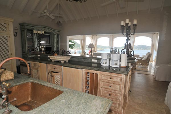 Kitchen at Villa WV BTR (Bon Temps) at St. Barthelemy, Pointe Milou, Family-Friendly Villa, Pool, 6 Bedrooms, 6 Bathrooms, WiFi, WIMCO Villas