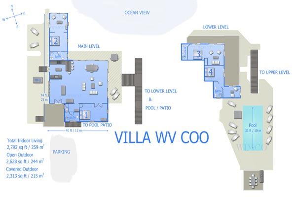 Villa WV COO (Captain Cook) at St. Barthelemy, Pointe Milou, Family-Friendly Villa, Pool, 4 Bedrooms, 4 Bathrooms, WiFi, WIMCO Villas