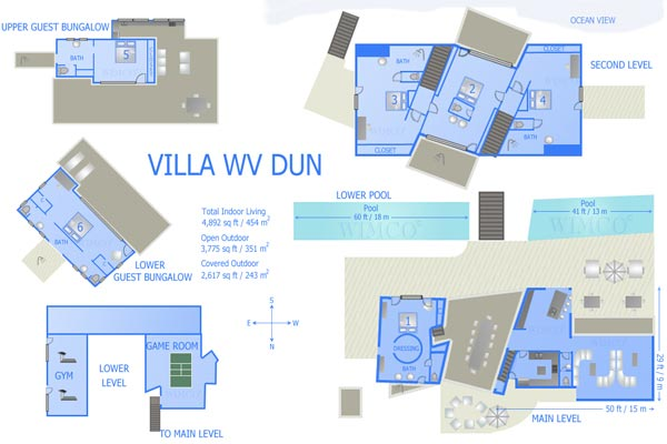 Villa WV DUN (Les Dunes) at St. Barthelemy, Saline, Family-Friendly Villa, Pool, 6 Bedrooms, 6 Bathrooms, WiFi, WIMCO Villas