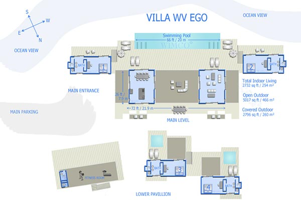 Villa WV EGO (Jasmine) at St. Barthelemy, Gouverneur, Family-Friendly Villa, Pool, 4 Bedrooms, 4 Bathrooms, WiFi, WIMCO Villas