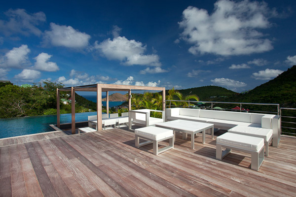 Deck at Villa WV ETY (Eternity) at St. Barthelemy, Flamands, Family-Friendly Villa, Pool, 5 Bedrooms, 5 Bathrooms, WiFi, WIMCO Villas