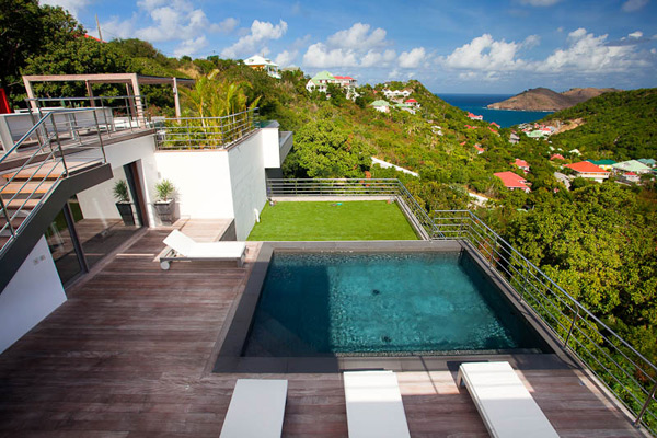 The view from Villa WV ETY (Eternity) at St. Barthelemy, Flamands, Family-Friendly Villa, Pool, 5 Bedrooms, 5 Bathrooms, WiFi, WIMCO Villas