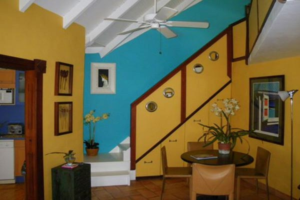 Interior of Villa WV HON (Flamboyant) at St. Barthelemy, Marigot, Family-Friendly Villa, Pool, 1 Bedrooms, 2 Bathrooms, WiFi, WIMCO Villas