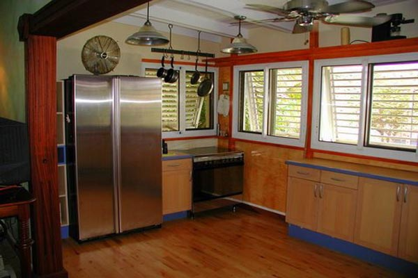 Kitchen at Villa WV HON (Flamboyant) at St. Barthelemy, Marigot, Family-Friendly Villa, Pool, 1 Bedrooms, 2 Bathrooms, WiFi, WIMCO Villas