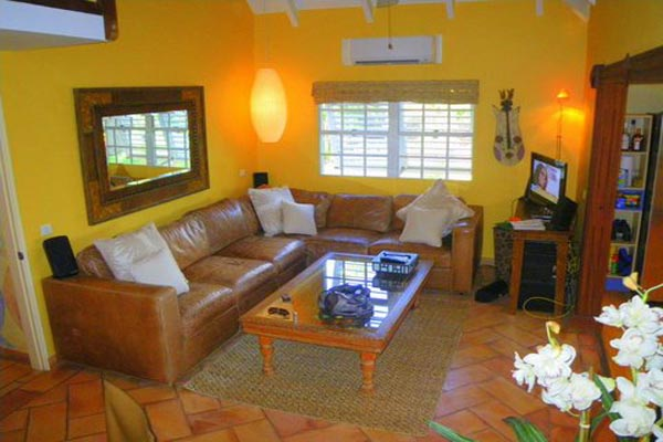 Living Room at Villa WV HON (Flamboyant) at St. Barthelemy, Marigot, Family-Friendly Villa, Pool, 1 Bedrooms, 2 Bathrooms, WiFi, WIMCO Villas