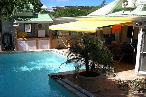 Villa Pool at Villa WV HON (Flamboyant) at St. Barthelemy, Marigot, Family-Friendly Villa, Pool, 1 Bedrooms, 2 Bathrooms, WiFi, WIMCO Villas