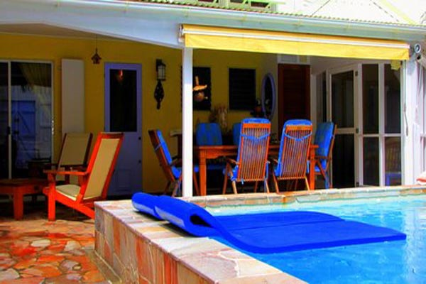 Veranda at Villa WV HON (Flamboyant) at St. Barthelemy, Marigot, Family-Friendly Villa, Pool, 1 Bedrooms, 2 Bathrooms, WiFi, WIMCO Villas