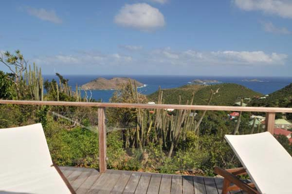 The view from Villa WV ING (Mirador) at St. Barthelemy, Colombier, Family-Friendly Villa, Pool, 4 Bedrooms, 4 Bathrooms, WiFi, WIMCO Villas