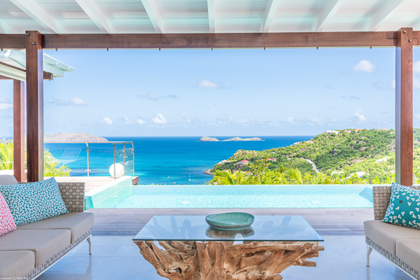 Living Room at WIMCO Villa WV ISI (Isia) at St. Jean, St. Barthelemy
