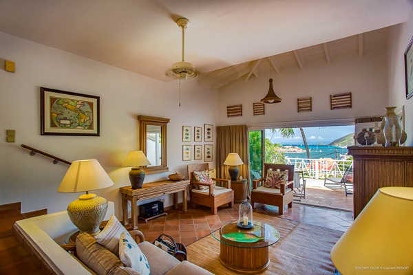 Living Room at WIMCO Villa WV LKJ (Apartment Colony Club) at Gustavia, St. Barthelemy