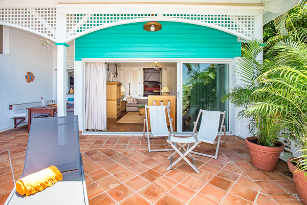 Terrace at WIMCO Villa WV LKJ (Apartment Colony Club) at Gustavia, St. Barthelemy