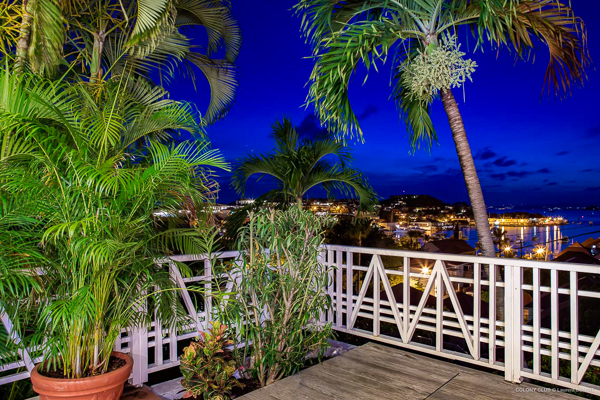The view from WIMCO Villa WV LKJ (Apartment Colony Club) at Gustavia, St. Barthelemy