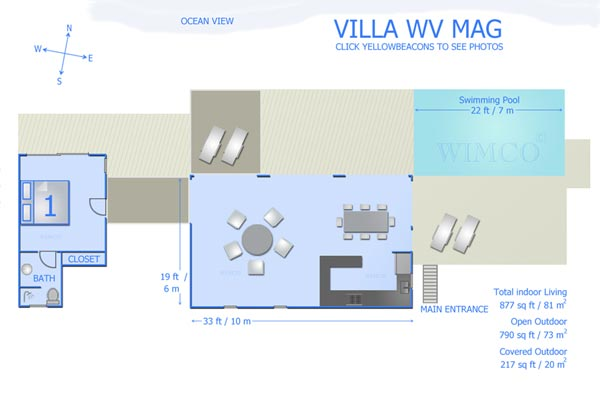 Villa WV MAG (MAG) at St. Barthelemy, Lorient, Pool, 2 Bedrooms, 2 Bathrooms, WiFi, WIMCO Villas