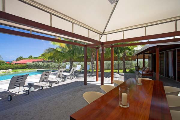 Dining Room at Villa WV MAK at St. Barthelemy, St. Jean, Pool, 2 Bedrooms, 2 Bathrooms, WiFi, WIMCO Villas