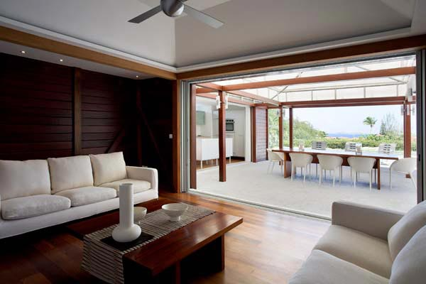 Living Room at Villa WV MAK at St. Barthelemy, St. Jean, Pool, 2 Bedrooms, 2 Bathrooms, WiFi, WIMCO Villas