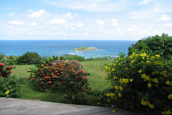 The view from Villa WV MNA (La Mouina) at St. Barthelemy, Vitet, Pool, 1 Bedrooms, 1 Bathrooms, WiFi, WIMCO Villas
