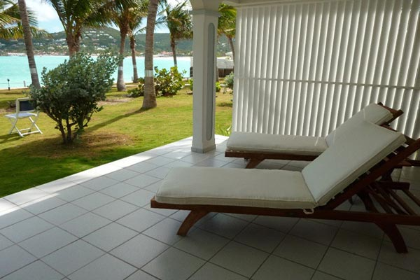 Terrace at Villa WV RLD2 (Les Sables d'Or) at St. Barthelemy, St. Jean, 2 Bedrooms, 2 Bathrooms, WiFi, WIMCO Villas