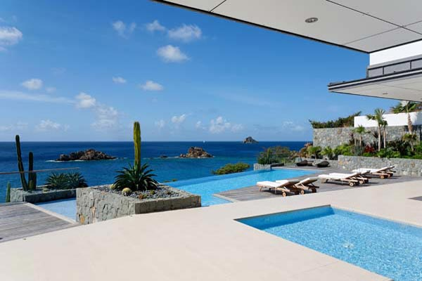 The view from Villa WV ROX (Villa Roxanne) at St. Barthelemy, Gustavia, Family-Friendly Villa, Pool, 6 Bedrooms, 6 Bathrooms, WiFi, WIMCO Villas