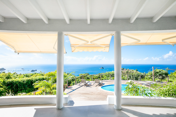 Terrace at Villa WV TAN (Taniko) at St. Barthelemy, Colombier, Family-Friendly Villa, Pool, 3 Bedrooms, 2 Bathrooms, WiFi, WIMCO Villas