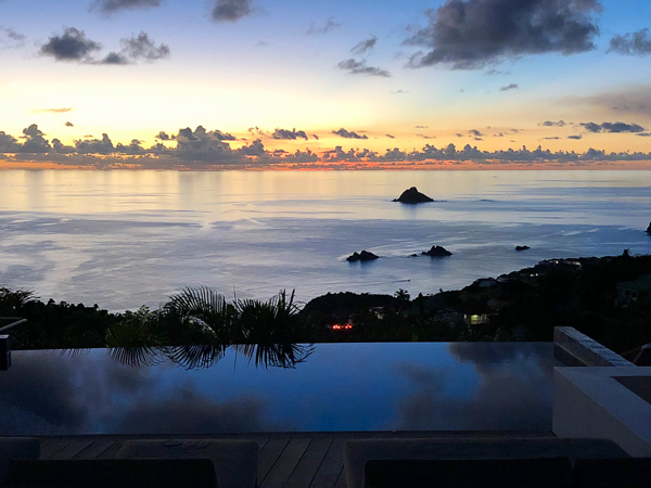 The view from Villa WV VLC (Vague Bleu) at St. Barthelemy, Lurin, Family-Friendly Villa, Pool, 3 Bedrooms, 3 Bathrooms, WiFi, WIMCO Villas
