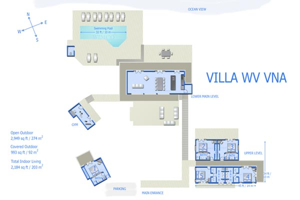 Villa WV VNA (Vina - Aurore) at St. Barthelemy, Vitet, Family-Friendly Villa, Pool, 5 Bedrooms, 5 Bathrooms, WiFi, WIMCO Villas