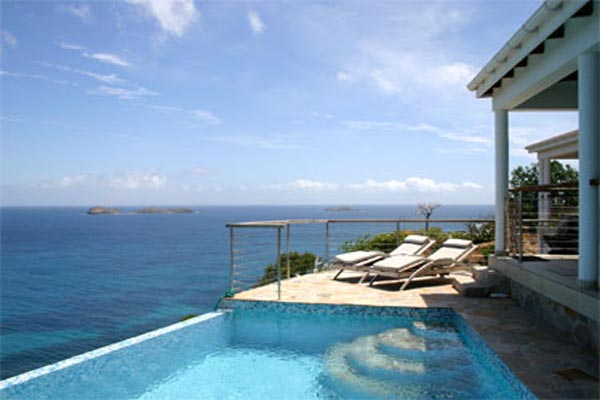 The view from Villa WV ABA (Abaca) at St. Barthelemy, St. Jean, Family-Friendly Villa, Pool, 2 Bedrooms, 2 Bathrooms, WiFi, WIMCO Villas