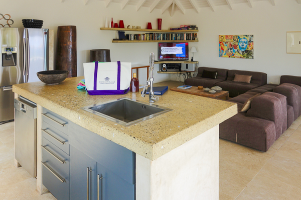 Kitchen at Villa WV ABT (Jali) at St. Barthelemy, Anse des Cayes, Family-Friendly Villa, Pool, 3 Bedrooms, 3 Bathrooms, WiFi, WIMCO Villas