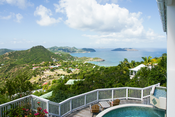 The view from Villa WV ADA (Vagabond) at St. Barthelemy, Petite Saline, Pool, 3 Bedrooms, 3 Bathrooms, WiFi, WIMCO Villas