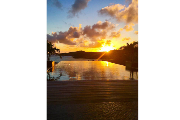 The view from Villa WV AMT (Amethyste) at St. Barthelemy, Petit Cul de Sac, Family-Friendly Villa, Pool, 2 Bedrooms, 4 Bathrooms, WiFi, WIMCO Villas