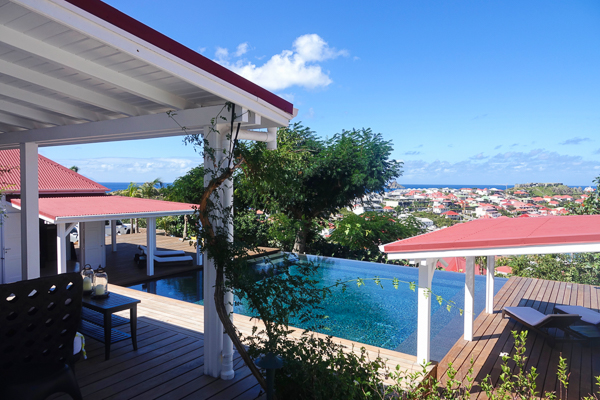 The view from Villa WV ANG (Angelina) at St. Barthelemy, Gustavia, Family-Friendly Villa, Pool, 4 Bedrooms, 4 Bathrooms, WiFi, WIMCO Villas