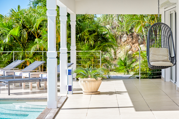 Terrace at Villa WV ANK at St. Barthelemy, Colombier, Family-Friendly Villa, Pool, 3 Bedrooms, 3 Bathrooms, WiFi, WIMCO Villas