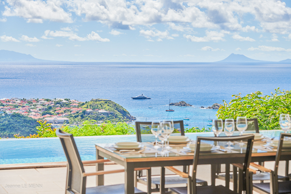 The view from Villa WV ANK at St. Barthelemy, Colombier, Family-Friendly Villa, Pool, 3 Bedrooms, 3 Bathrooms, WiFi, WIMCO Villas