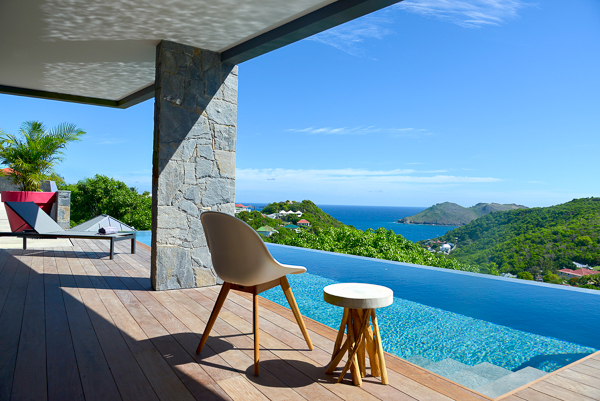 The view from WIMCO Villa WV APK (ALPAKA) at Flamands, St. Barthelemy