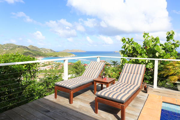 The view from Villa WV AQU (Aquamarine) at St. Jean, St. Barthelemy, Pool, 2 Bedroom, 2 Bathroom, WiFi, WIMCO Villas