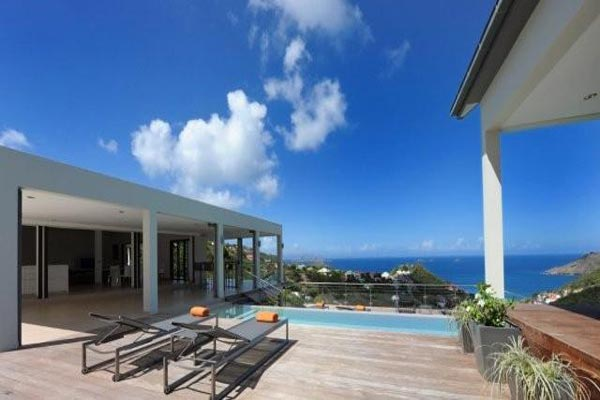 The view from Villa WV ATT (Arte) at St. Barthelemy, Flamands, Family-Friendly Villa, Pool, 4 Bedrooms, 4 Bathrooms, WiFi, WIMCO Villas