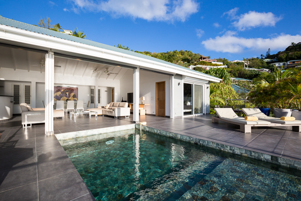 Villa Pool at WIMCO Villa WV AUS (Mirande) at Pointe Milou, St. Barthelemy