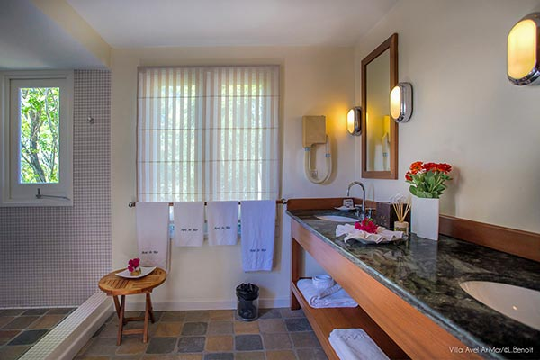 Bathroom at Villa WV AVE (Avel Armor) at St. Barthelemy, Mont Jean, Family-Friendly Villa, Pool, 3 Bedrooms, 3 Bathrooms, WiFi, WIMCO Villas