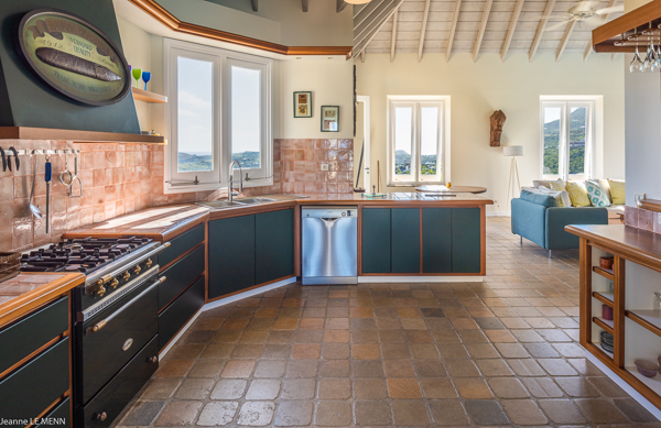 Kitchen at Villa WV AVE (Avel Armor) at St. Barthelemy, Mont Jean, Family-Friendly Villa, Pool, 3 Bedrooms, 3 Bathrooms, WiFi, WIMCO Villas