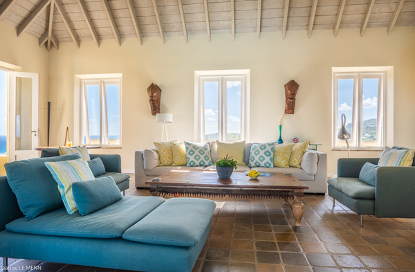 Living Room at Villa WV AVE (Avel Armor) at St. Barthelemy, Mont Jean, Family-Friendly Villa, Pool, 3 Bedrooms, 3 Bathrooms, WiFi, WIMCO Villas