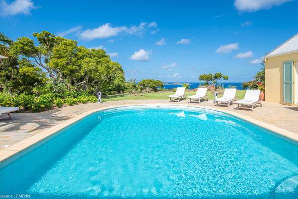 Villa Pool at Villa WV AVE (Avel Armor) at St. Barthelemy, Mont Jean, Family-Friendly Villa, Pool, 3 Bedrooms, 3 Bathrooms, WiFi, WIMCO Villas