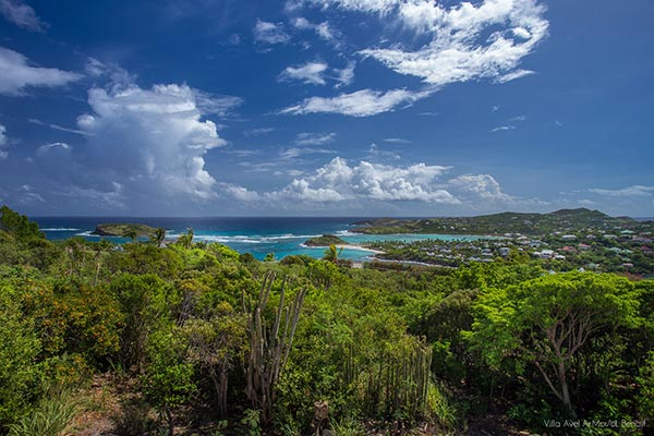 The view from Villa WV AVE (Avel Armor) at St. Barthelemy, Mont Jean, Family-Friendly Villa, Pool, 3 Bedrooms, 3 Bathrooms, WiFi, WIMCO Villas