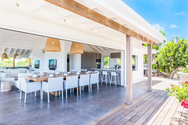 Terrace at Villa WV AVN (Avalon) at St. Barthelemy, Gouverneur, Family-Friendly Villa, Pool, 4 Bedrooms, 4 Bathrooms, WiFi, WIMCO Villas