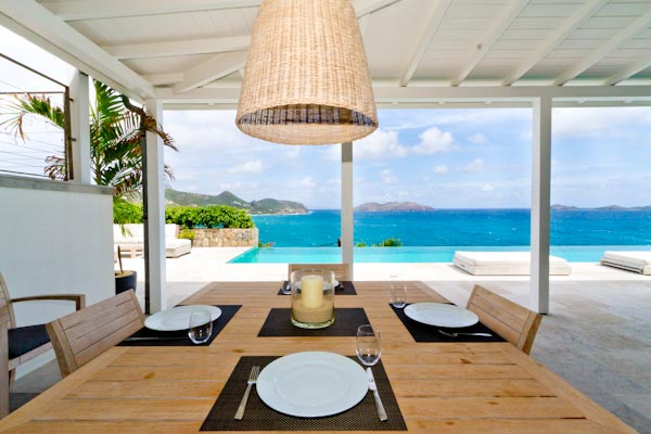 Dining Room at Villa WV BBS (Ella) at St. Barthelemy, St. Jean, Pool, 3 Bedrooms, 3 Bathrooms, WiFi, WIMCO Villas