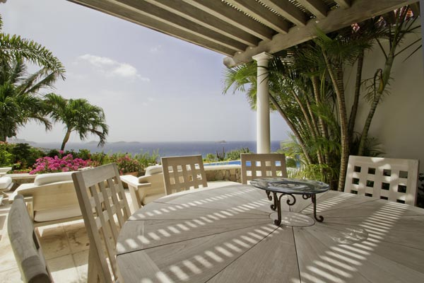 Terrace at Villa WV BEV (Beverly) at St. Barthelemy, Mont Jean, Family-Friendly Villa, Pool, 4 Bedrooms, 4 Bathrooms, WiFi, WIMCO Villas