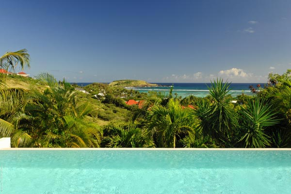 The view from Villa WV BLU (Blue Lagoon) at St. Barthelemy, Grand Cul de Sac, Family-Friendly Villa, Pool, 3 Bedrooms, 2 Bathrooms, WiFi, WIMCO Villas