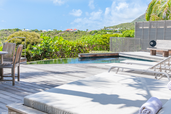 Deck at Villa WV BON (Bonbonniere) at St. Barthelemy, Pointe Milou, Pool, 1 Bedrooms, 2 Bathrooms, WiFi, WIMCO Villas
