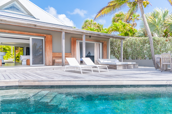 Villa Pool at Villa WV BON (Bonbonniere) at St. Barthelemy, Pointe Milou, Pool, 1 Bedrooms, 2 Bathrooms, WiFi, WIMCO Villas